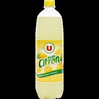 Boisson gaziéfiée au jus de citron à base de concentré avec sucre etédulcorant 1,5L