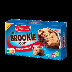 Cookies aux pépites de chocolat sur gâteaux au chocolat BROSSARD, x4 soit 184g