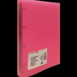 Classeur souple, format A4, dos 25mm, rouge