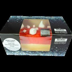 Buche glacée vanille fraise 4/5p LA TURBINE A SAVEURS, 1l