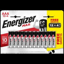 Energizer Piles Lr03 - Aa  Max, Pack De 16