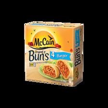 Original Bun's Burger au boeuf haché, fromage et tomate MC CAIN, 4x100g