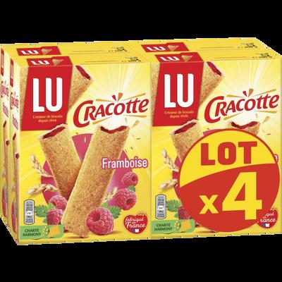CRACOTTE framboise Lu paquets 4x200g