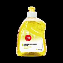 Liquide vaisselle parfum citron, flacon de 500ml