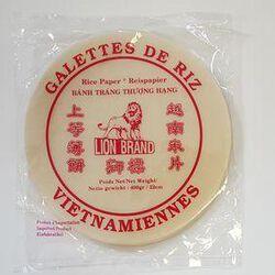 Lion Brand galettes de riz vietnamiennes 22cm 400g