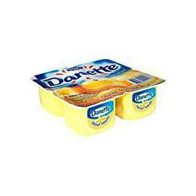 Crème dessert saveur vanille DANETTE, 4x100g