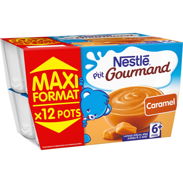 Nestlé P'tit Gourmand Au Caramel Nestlé, Dès 6 Mois, 12x100g