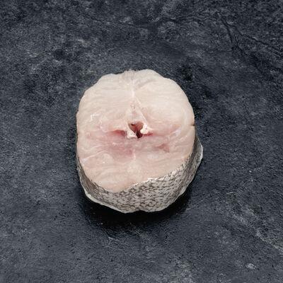 Merlu, Merluccius merluccius, en tranche, N°1, France, pêché Atlantique Nord Est