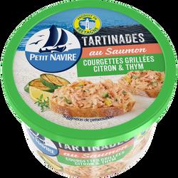 Tartinades de saumon courgettes grillées, citron & thym PETIT NAVIRE,125g
