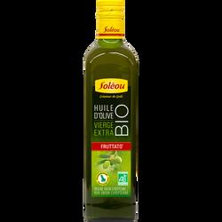 Huile d'olive vierge extra bio Fruttato SOLEOU, 75cl