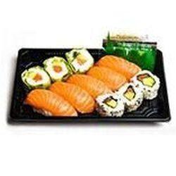 MIXTE TOUT SAUMON 11 pièces : 3 california saumon, 3 verde saumon, 5 sushi saumon