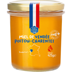 Miel de Vendée Poitou-Charentes LES RUCHERS DU GUE, pot de  425g