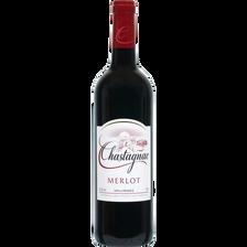 Vin rouge de France Merlot chastagnac U, 75cl