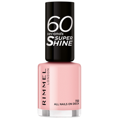 Vernis à ongles 60 seconds super shine colour block 722 all nails on deck RIMMEL, nu, 8ml