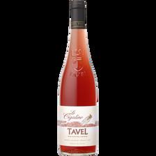Vin rosé Tavel AOP la Cigaline, bouteille de 75cl