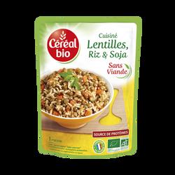 Lentilles riz et soja Cuisiné CEREAL BIO, 1 portion, 250G