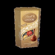Boules Lindor assorties LINDT, cornet de 200g