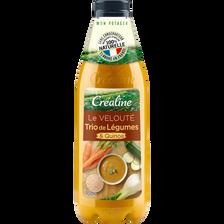 Velouté trio de légumes et quinoa, CREALINE, bouteille 950ML