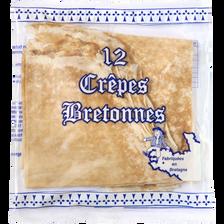 Crêpes nature bretonne, 12 unités, soit 300g
