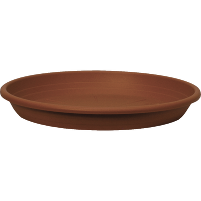 Soucoupe CILINDRO, diamètre 22cm, en plastique, terre cuite