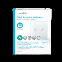 Interrupteur éclairage NEDIS intelligent wi-fi double