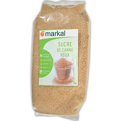 Sucre de canne roux, MARKAL, le paquet de 1kg