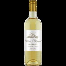 Sauternes AOP blanc moelleux Château Pleytegeat, bouteille de 75cl