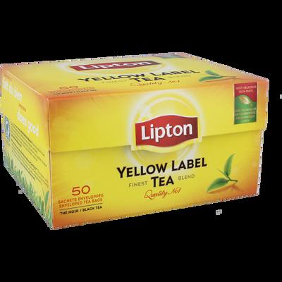 Thé Yellow Label LIPTON, 50 sachets, 100g