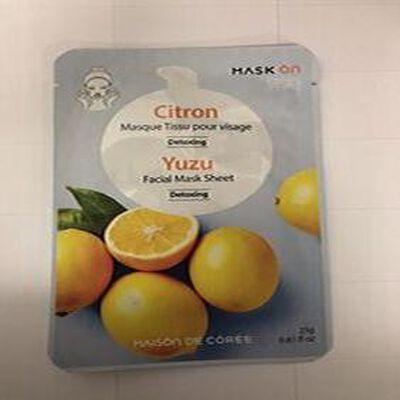 Masque Tissu Pour Visage Detoxing Citron