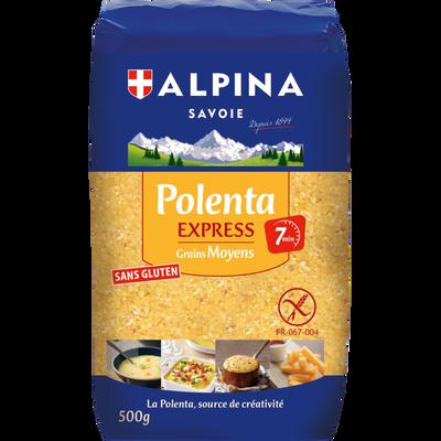Polenta express grains moyens ALPINA SAVOIE, paquet de 500g
