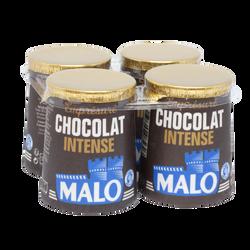 Emprésuré chocolat noir intense MALO, 4 pots de 125g