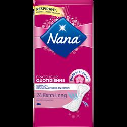 Protège-slip extra long NANA, sachet de 24