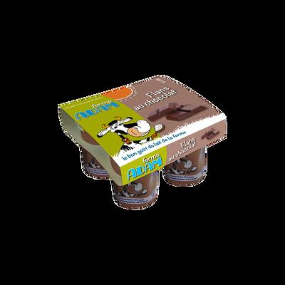 Flans chocolat Ferme ADAM, 4x125g