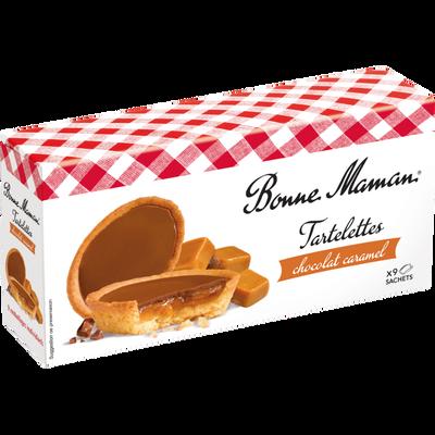 Tartelettes chocolat au lait caramel BONNE MAMAN, 135g