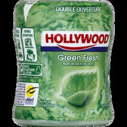 Chewing gum sans sucres greenfresh HOLLYWOOD, boîte de 87g