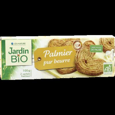 Palmiers pur beurre JARDIN BIO, étui de 100g