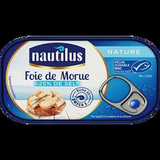 Foie de morue nature NAUTILUS, 120g