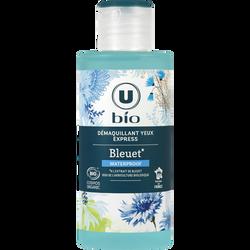 Démaquillant pour yeux express au bleuet Bio U, flacon de 150ml