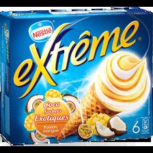 EXTREME, coco sorbets exotiques passion mangue, 6 unités 426g