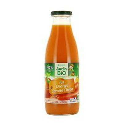 Jus orange carotte citron Bio LEA NATURE bouteille 75cl