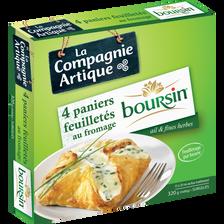 Boursin Paniers Feuilletés Au Fromage Ail Et Fines Herbes , 4x80g
