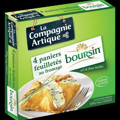 Feuilletés au fromage Boursin ail et fines herbes LA COMPAGNIE ARTIQUE, 4x80g soit 320g