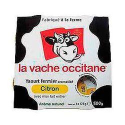 Yaourts fermiers aromatisés citron LA VACHE OCCITANE, 4x125g