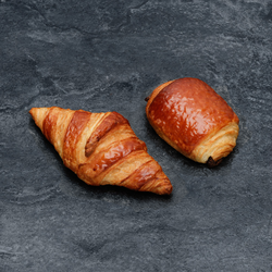1 croissant + 1 pain au chocolat, U BIO