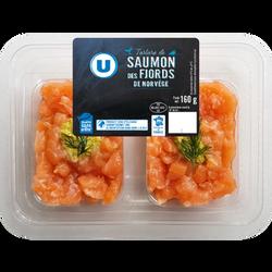 Tartare de saumon des Fjords de Norvège Salmo salar U, 160g