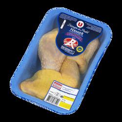 Cuisse poulet fermier jaune de la Drôme, U, 2 pièces