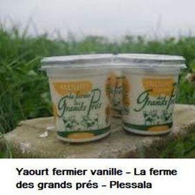 Yaourt fermier vanille La ferme des grands prés 125g