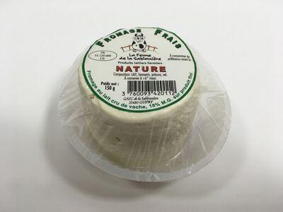 Fromage frais au lait cru de vaches, nature, FERME DE LA SABLONNIERE, 18%mg, 150g