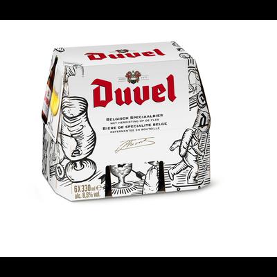 Bière blonde de spécialité Belge DUVEL, 8°5, pack de 6x33cl