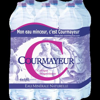 Eau minérale naturelle COURMAYEUR, 6 bouteilles de 1,5l
